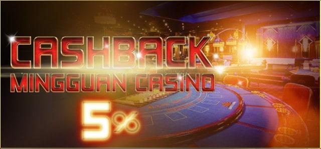 cashback mingguan casino online omi88